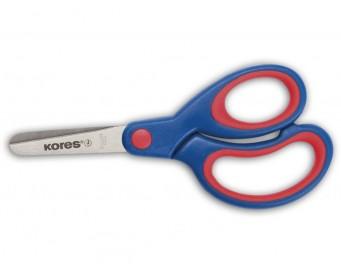 Nůžky dětské Kores 13 cm soft úchop modré