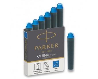 PARKER inkoustové bombičky krátké modré