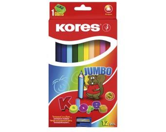 Pastelky Kolores Jumbo trojhranné 12 barev