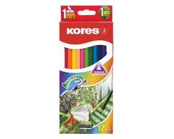 Pastelky akvarelové Kolores 12 barev + štětec