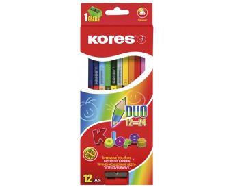 Pastelky Kolores Duo trojhranné 12 barev