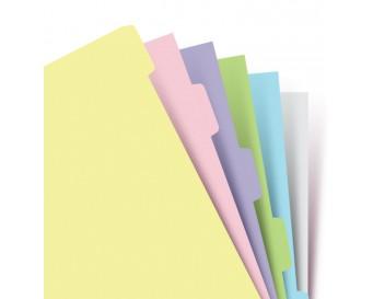 Náplň pro Filofax A5 - krajové výřezy pastelové, 6 prázdných záložek