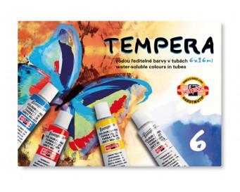 Temperové barvy KOH-I-NOOR 6 barev objem tuby 16 ml