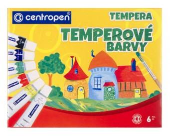 Temperové barvy Centropen 6 barev objem tuby 12 ml