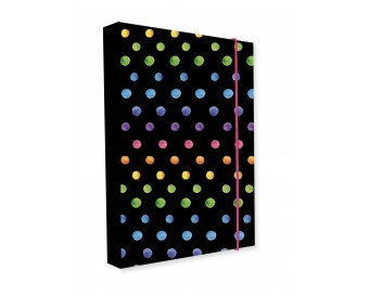 Box na sešity A4 Jumbo Dots Colors 2019