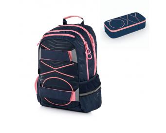 Studentský batoh OXY Sport PASTEL LINE Pink 2019 + Etue zdarma